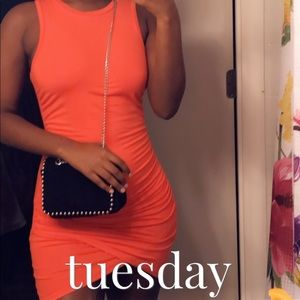 Forever 21 Mini Ruched dress
